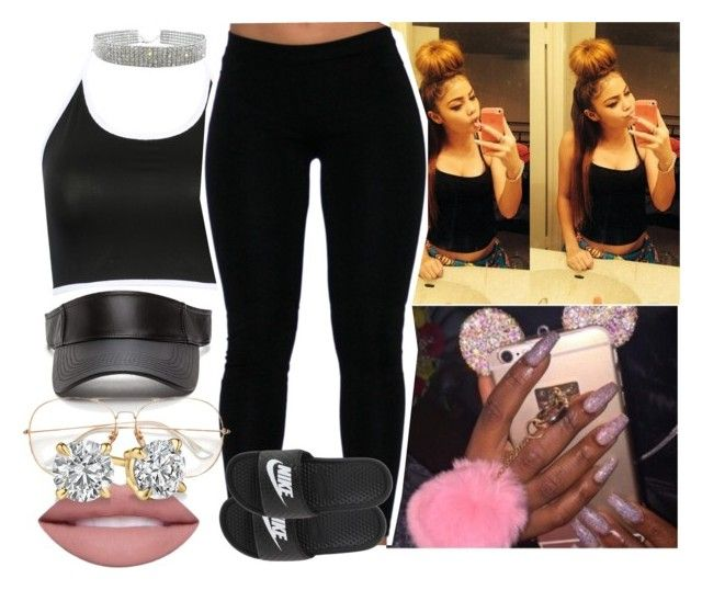 """afterschoo bihhh"" by saucinonyou999 ❤ liked on Polyvore featuring NIKE"