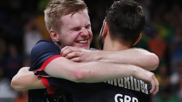 Marcus Ellis and Chris Langridge won Great Britain's first Olympic badminton men's doubles medal, beating China's Hong Wei and Chai Biao to take bronze.  Ellis and Langridge beat the world number five pair 21-18 19-21 21-10.