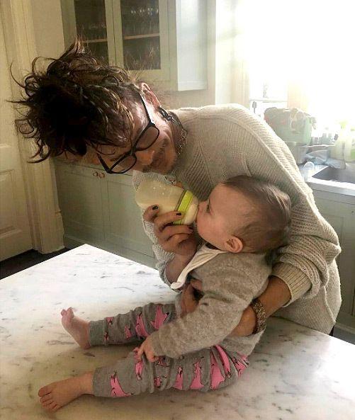 Grandpa on Duty! 'Papa Steven' Tyler Gives Granddaughter Lula Rose Her Bottle In Sweet NewSnap