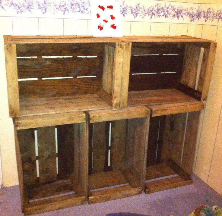caisses de pommes deco pinterest. Black Bedroom Furniture Sets. Home Design Ideas