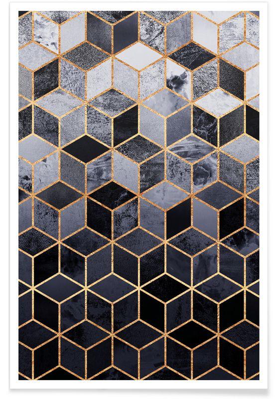Daydream Cubes als Premium Poster door Elisabeth Fredriksson | JUNIQE