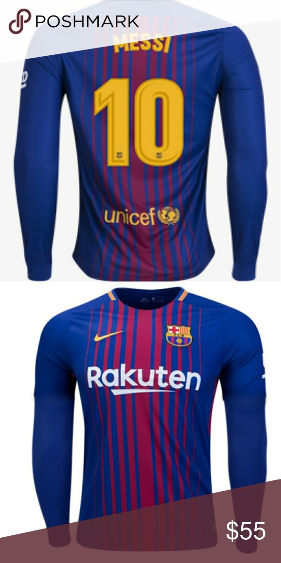 MESSI #10 LONG SLEEVE HOME JERSEY PRE-ORDER This a pre-order messi#10 BARCELONA Long sleeve home JERSEY SIZE SMALL TO 4XL.  Choose :  1: LA LIGA PATCH  2: CHAMPIONS LEAGUE PATCH   PLEASE MSJ   PRE-ORDER TAKE ABOUT 5-7 DAYS PROCESSING, PERSONALIZING,QUALITY CHECK AND PACKING. AFTER SHIP TAKE ABOUT 3-4 DAYS TO ARRIVE TO THEIR FINAL DESTINATION. Nike Shirts Tees - Long Sleeve