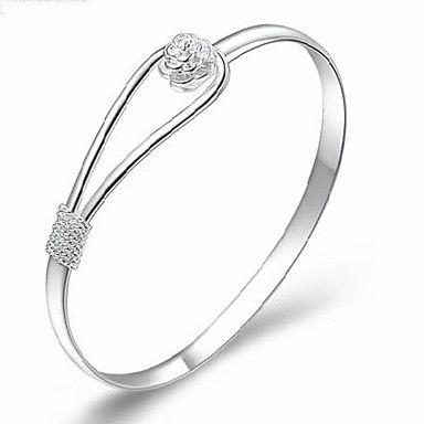 MISS U Damen Silber Armband Romantic Flower – EUR € 1.64