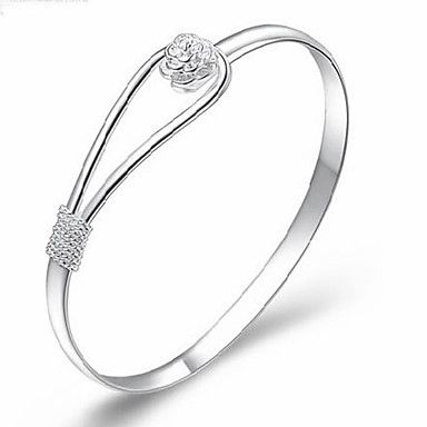 MISS U Damen Silber Armband Romantic Flower – EUR € 1.64