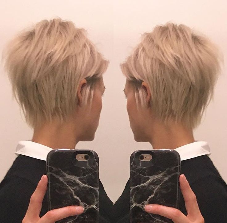 Short Blonde Pixie Cut Krissafowles Hair Pinterest