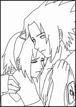 Coloring book. ColouringSasuke Uchiha3