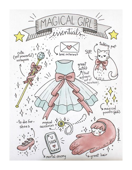 Magical Girl Essentials - except the love interest! who's got time for that when the world needs saving?