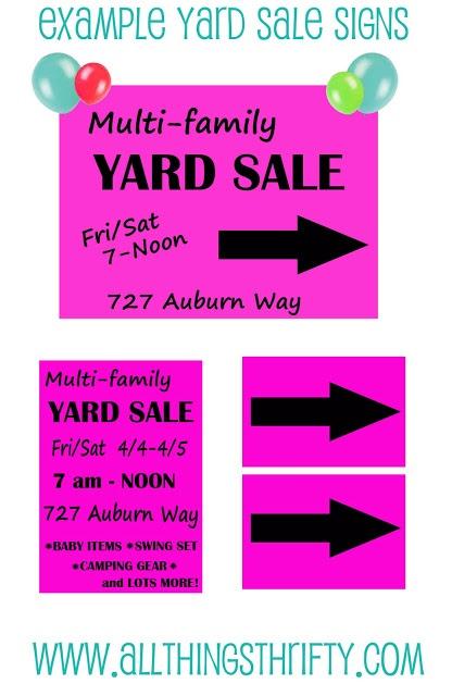 Top 15 Yard Sale Advertising Tips