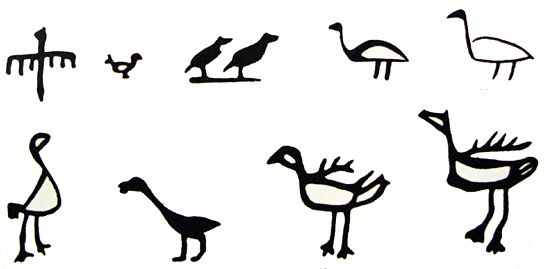 Bird symbol in sámi art
