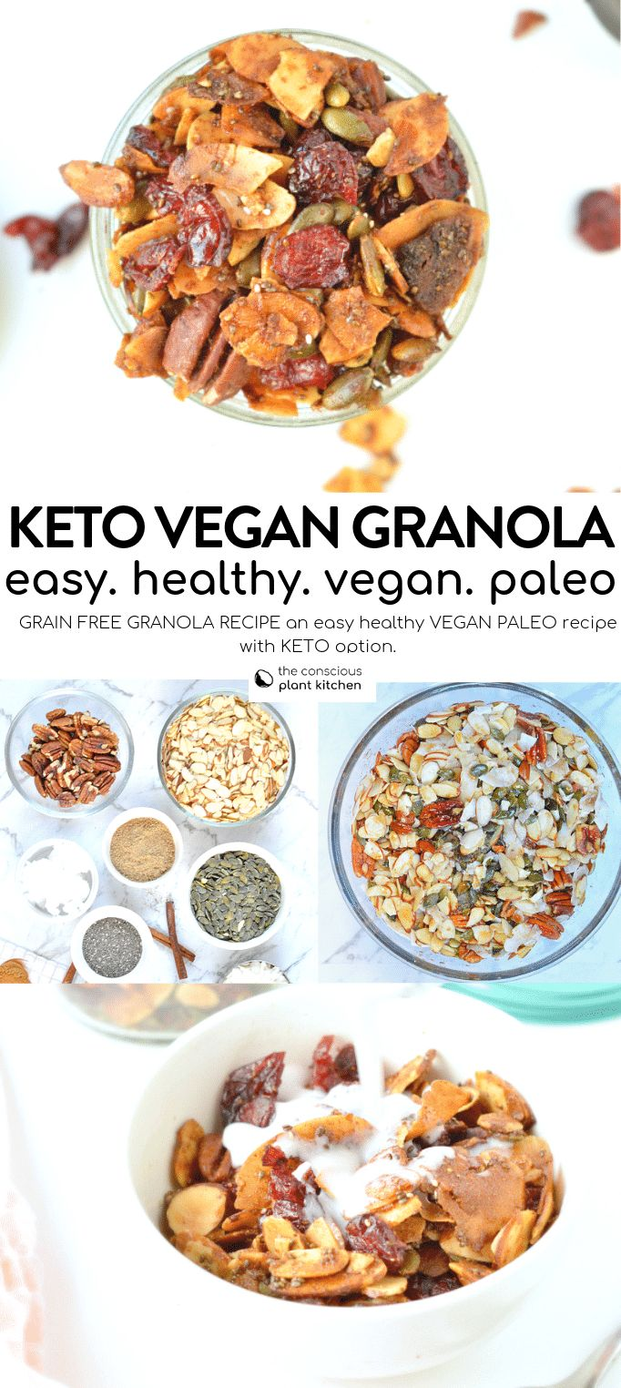 Grain free granola recipe keto vegan – The Conscious Plant Kitchen