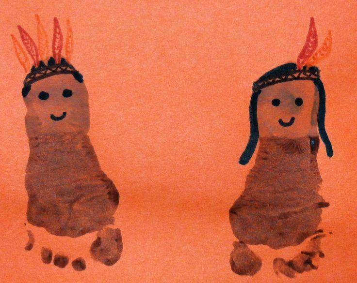 Foot Print American Indian Art Thanksgiving ArtFootprint CraftsToddler
