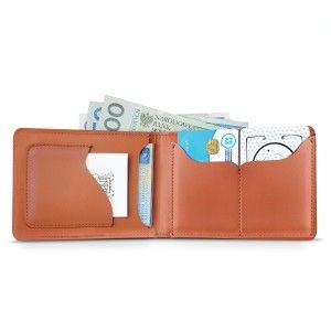 Leather Wallet: Cognac Combo Wallet