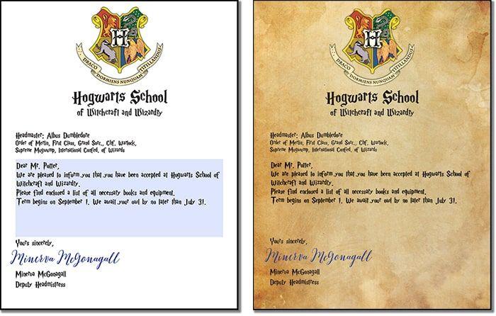 Free Printable Customizable Hogwarts Letter And Envelope Harry Potter Acceptance Letter Harry Potter Letter Harry Potter Hogwarts Letter