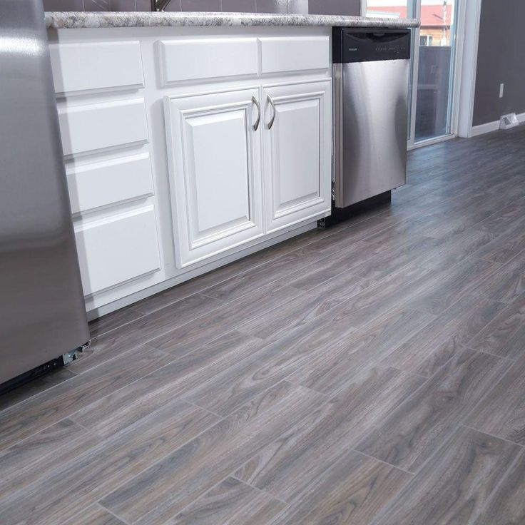 Graue Küche Mit Holzboden: SnapStone Weathered Grey 6 In. X 24 In. Porcelain Floor