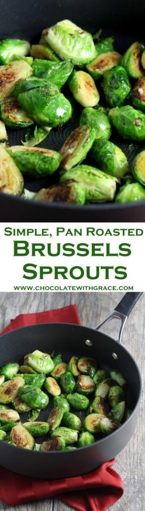 Pan Roasted Brussels Sprouts. Simple healthy vegetable side dish.   #ad