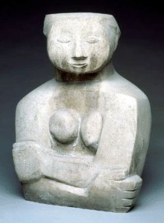 Ruth Duckworth, untitled, 1946, stone, carving, 15 by 11 by 9 inches.
