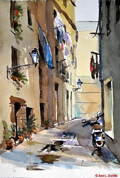 Callejón de los Besos / Barcelona Kisses alley in Barcelona ( Spain )