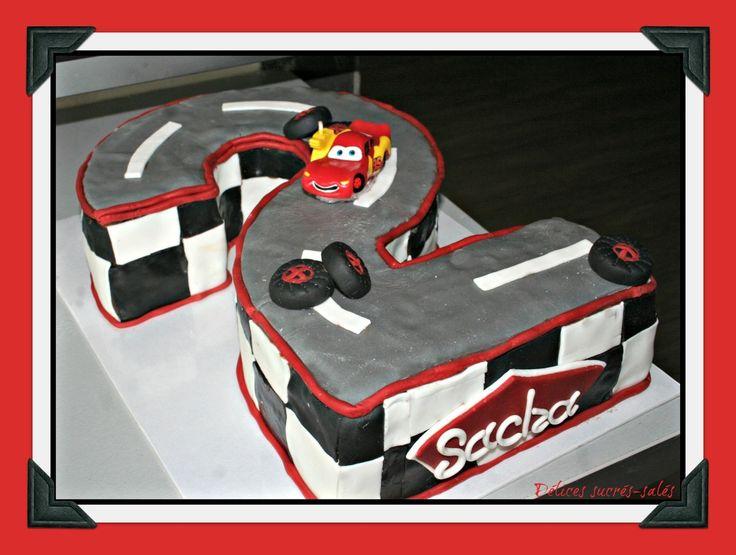 Gâteau piste de course 2 ans Cars