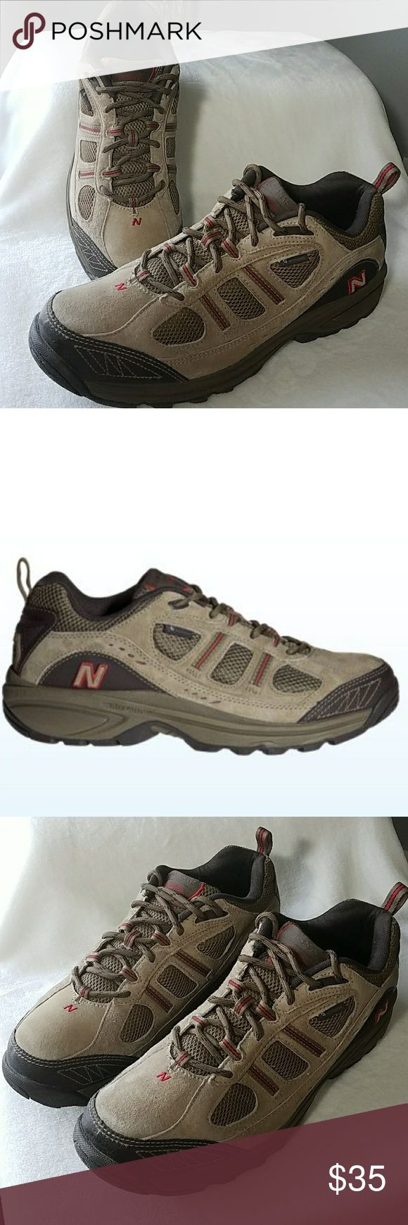 New Balance MW646BR Hiking Shoe Men's New Balance MW646BR Hiking Shoe. Outdoor adventurers and enthusiasts like the men's New Balance MW646BR for its stability web and ABZORB® cushioning, which provides you the comfort and support you need on longer walks. A fashionable and water-resistant suede and mesh upper helps keep you dry and looking good.C-CAP® midsole provides cushioning and support. Worn a few times. EUC Size 12 D (Medium) New Balance Shoes Sneakers