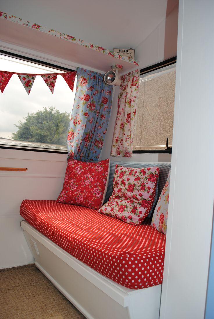 Shabby chic caravan interior