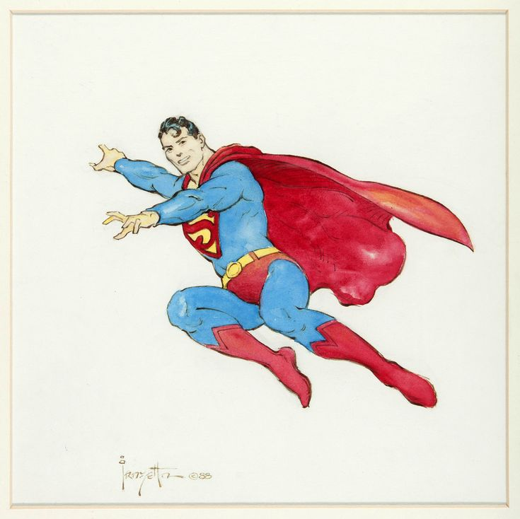 "thebristolboard: ""Original Superman commission painting by Frank Frazetta, 1988. """