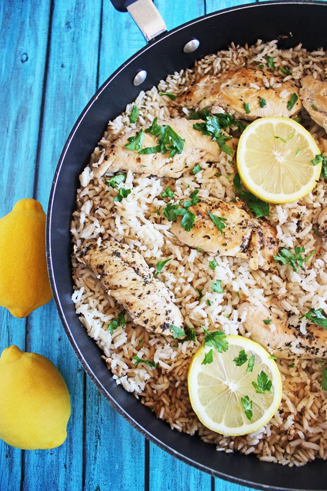 Lemon Butter Chicken and Rice Skillet n