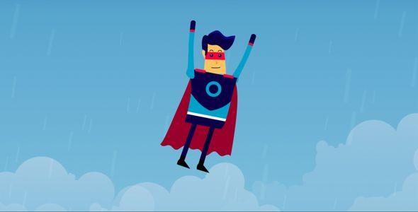 Super Hero Mascot Animated Cartoon