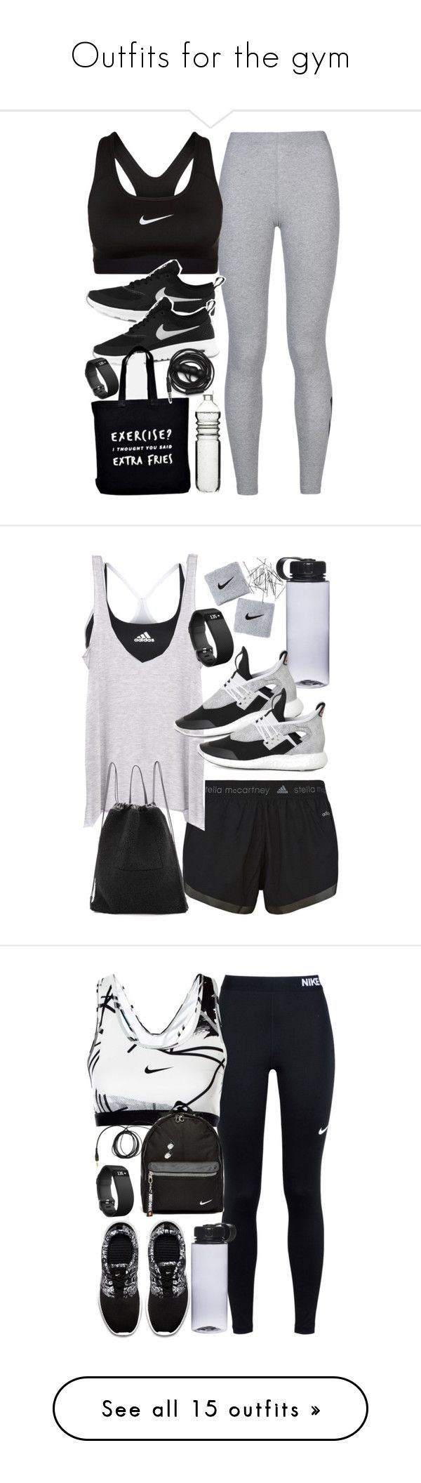 """Outfits for the gym"" by ferned ❤ liked on Polyvore featuring NIKE, Ellie Ellie, Fitbit, Dot & Bo, Urbanears, adidas, Enza Costa, Kara, Monki and Invisibobble"