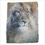 Schilderij Leeuw, gemaakt door Peter van Loenhout