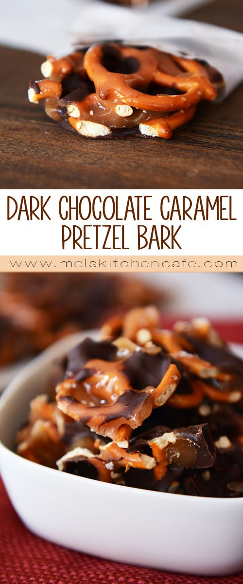 These Snapper's Knock Off Dark Chocolate Sea Salt Caramel Pretzel Bark treats are  salty and sweet and chewy and rich and totally, totally amazing.