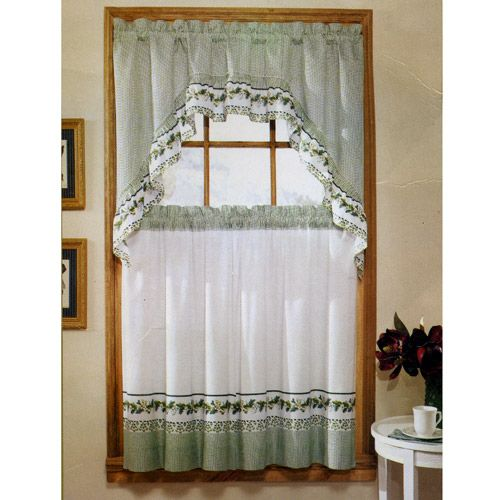 "Kitchen Curtains Sets Amazon: Ivy Print 36"" Swag Kitchen Curtain Set By United"