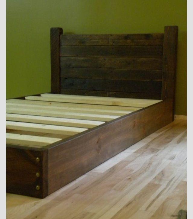 homemade platform bed | DIY twin platform bed