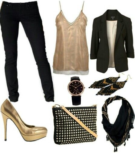 53 Best Images About Black/gold Outfits On Pinterest