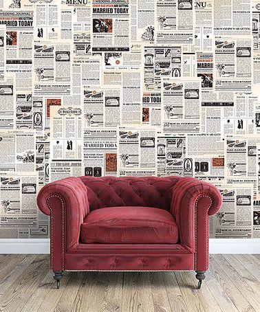 Look at this #zulilyfind! Vintage Newspaper Wall Decals #zulilyfinds