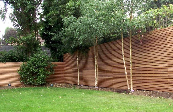 Contemporary hardwood fencing