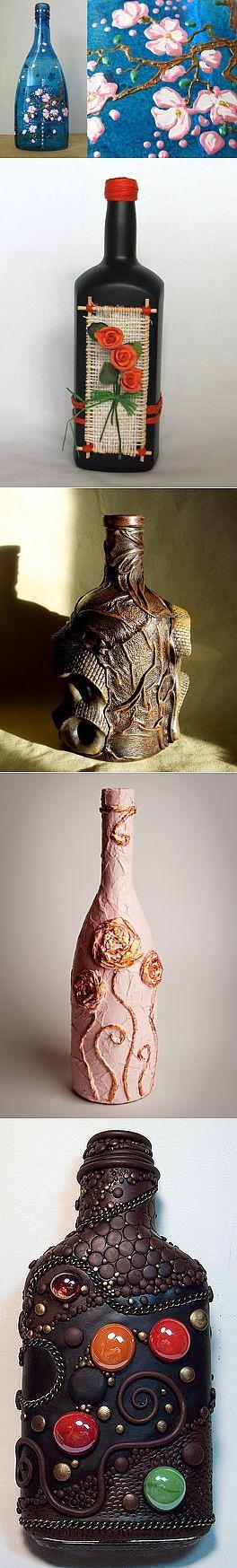 Украшения для дома: декор бутылок своими руками | Интерьер и Дизайн | Декор бутылок | Постила