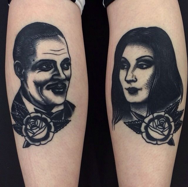 Gomez & Morticia (Joe Ellis - Leeds, UK) (Healed)