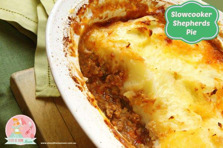 Slowcooker Shepherd's Pie | Stay at Home Mum