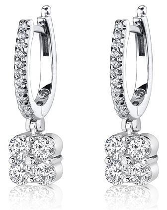 Diamond Hoop #Earrings  I love these!