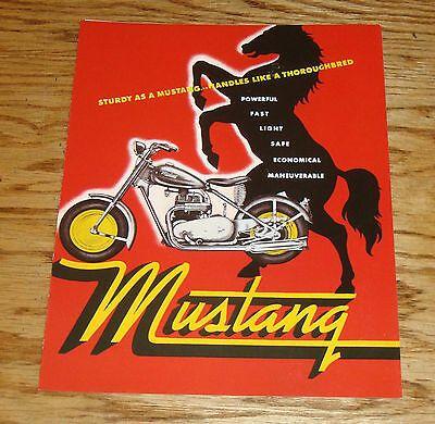 (eBay Ad Url) 1948-1961 Mustang Motorcycle Foldout Sales Brochure – Transportation