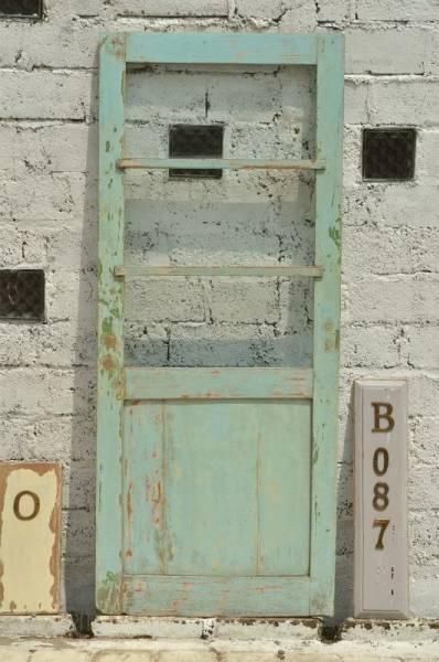 Door B087 82cm×197cmアンティーク建具扉ドアリフォーム インテリア 雑貨 家具 Antique ¥28000yen 〆06月21日