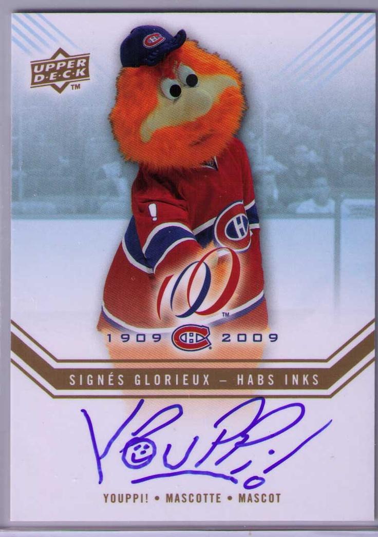 Youppi! hockey card