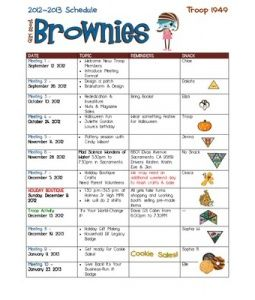 Brownie Girl Scouts 2012 2013  Great, organized ideas