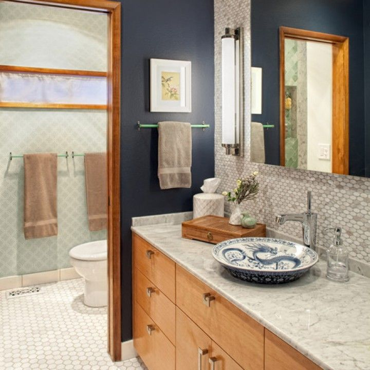 Navy Blue And Tan Bathroom: 18 Best Blue And Brown Bathrooms Images On Pinterest