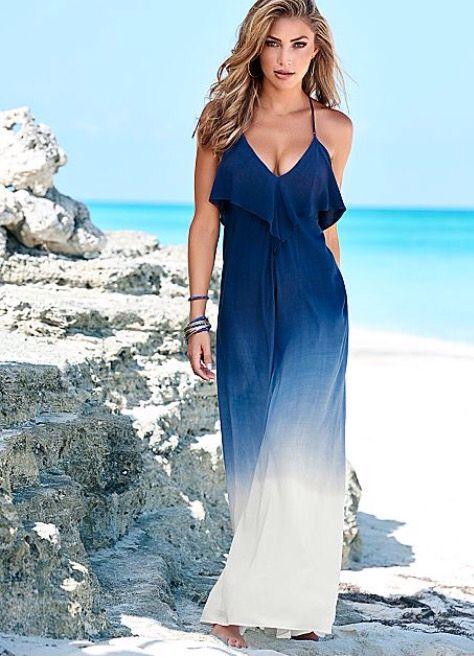 Venus blue ombre maxi dress