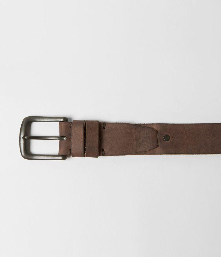 Leather belt.