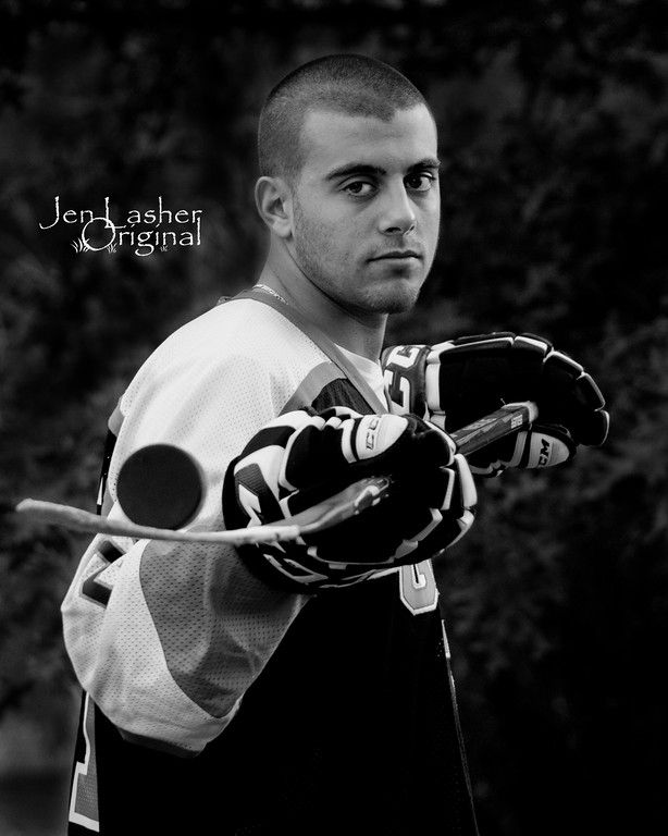 Hockey Pose / senior pictures