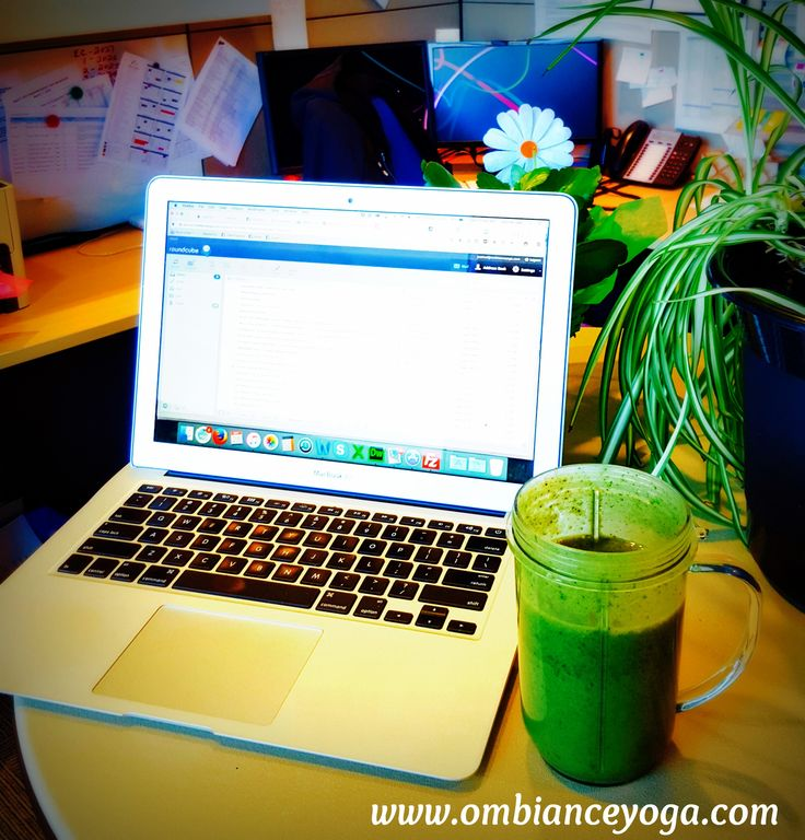 More moringa goodness with a kick of Vitamin C - cucumber, kale, moringa, vanilla protein, coconut yogurt, and orange juice. http://www.ombianceyoga.com