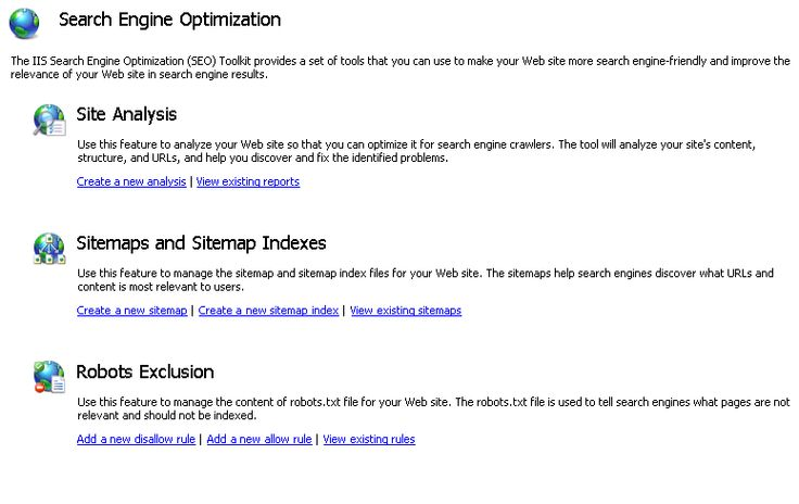 Managing Robots.txt and Sitemap Files : The Official Microsoft IIS Site