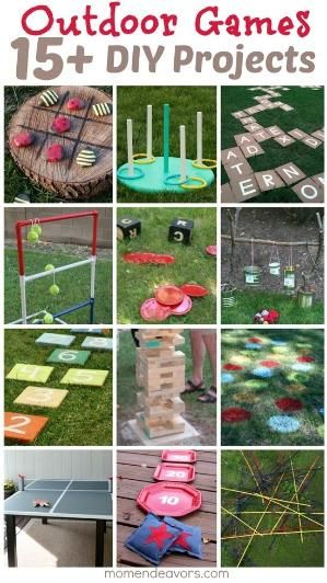 DIY Outdoor Games — 15 Awesome Project Ideas for Backyard Fun! - natureb4 by april